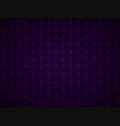 poker purple background playing card symbols vector image