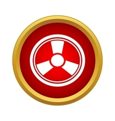 Radiation icon simple style vector image vector image