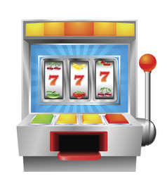 slot fruit machine vector image