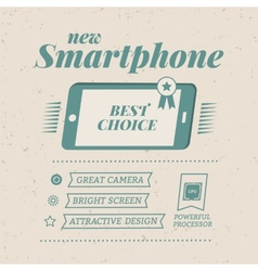 Smartphone poster vector image vector image