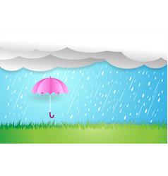 umbrella in rainy seasonrain cloud vector image vector image