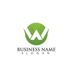 w letter logo business template icon vector image