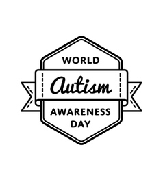 World Autism Awareness day greeting emblem vector image vector image