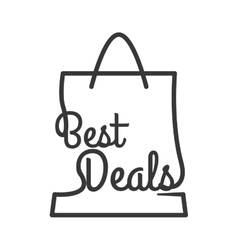 Best deal shopping bag commerce business icon vector