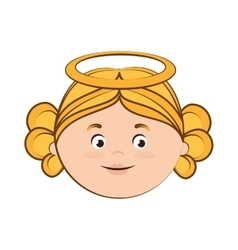 Angel heaven halo girl icon vector