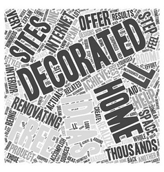 Free home decorating ideas word cloud concept vector