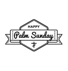 Palm sunday holiday greeting emblem vector