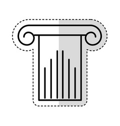 Column silhouette isolated icon vector
