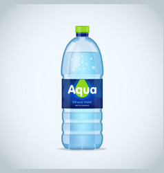 Realistic bottle with clean blue water isolated on vector
