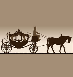 silhouette of a carriage vector image