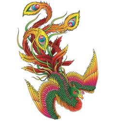 Japanese Style Phoenix vector image