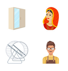 India travel tourism and other web icon in vector