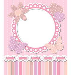 Romantic pink frame vector