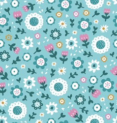 Simple floral pattern vector image