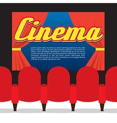 Cinema Seats In Front Of Screen vector image