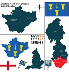 Cheshire north west england vector
