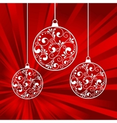 xmas papers balls vector image