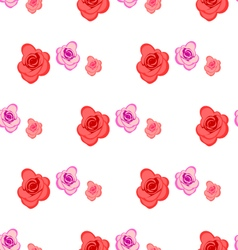 Spring seamless pattern with roses vector