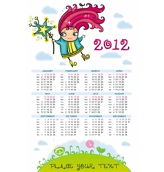 fairy calendar for 2012 vector image