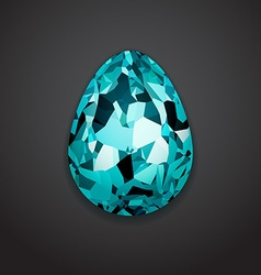 Stylish creative crystal easter egg Logo mock up vector image
