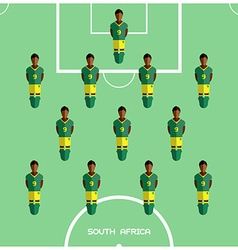 Computer game South Africa Football club player vector image