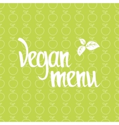 Vegan menu healthy poster vector