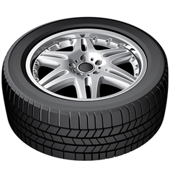 Car wheel isolated vector image