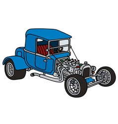 Blue hot rod vector