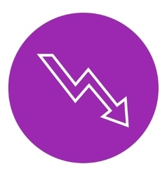 Arrow downward line icon vector