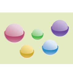 Colorful spherical web buttons vector