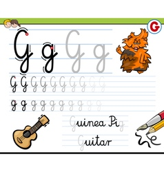 How to write letter g vector