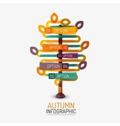 Autumn option infographic banner minimal design vector image vector image