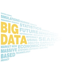 Big data concept word tag vector image vector image