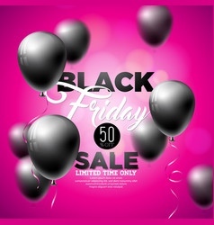 black friday sale with shiny vector image