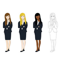 Business woman thinking vector