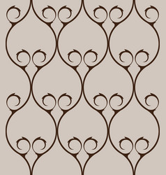 classical ornate seamless pattern background vector image vector image