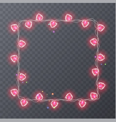 Colorful garlands with shape of hearts holiday vector