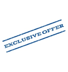 Exclusive offer watermark stamp vector