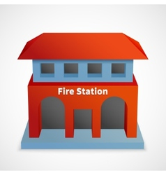 Fire station building vector image vector image