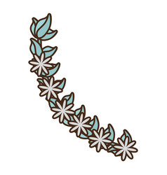 Flowers branch decoration floral vector