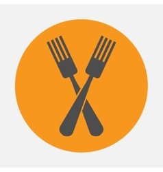 forks icon vector image vector image