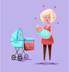 Funny mother character Isolated vector image vector image