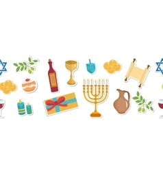 Happy Hanukkah seamless poster greeting card vector image