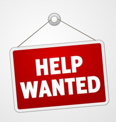 Help Wanted Sign vector image