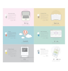 Icons set banner for business web and print desig vector