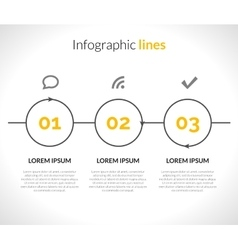 Infographic with circles pointers 3 steps vector