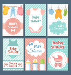 labels or cards for baby shower package vector image vector image