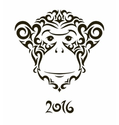 Monkey - symbol of the new year vector