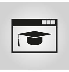 Online education icon design symbol web vector image vector image