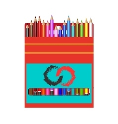 pack of colored pencils Realistic pencils vector image vector image